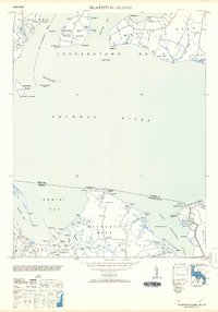 Download a high-resolution, GPS-compatible USGS topo map for Blakiston Island, MD (1953 edition)