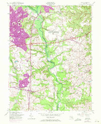 Download a high-resolution, GPS-compatible USGS topo map for Bowie, MD (1971 edition)
