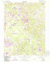 Download a high-resolution, GPS-compatible USGS topo map for Brandywine, MD (1986 edition)