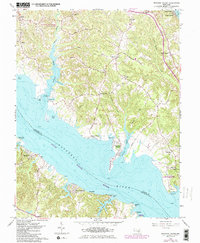 Download a high-resolution, GPS-compatible USGS topo map for Broomes Island, MD (1986 edition)