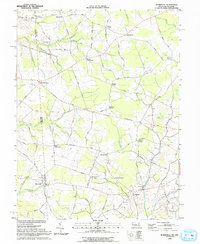 Download a high-resolution, GPS-compatible USGS topo map for Burrsville, MD (1993 edition)