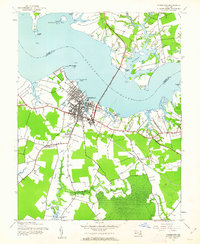 Download a high-resolution, GPS-compatible USGS topo map for Cambridge, MD (1962 edition)