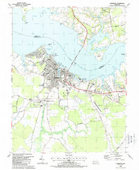 Download a high-resolution, GPS-compatible USGS topo map for Cambridge, MD (1988 edition)