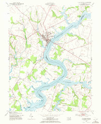 Download a high-resolution, GPS-compatible USGS topo map for Chestertown, MD (1971 edition)