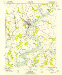 Download a high-resolution, GPS-compatible USGS topo map for Chestertown, MD (1955 edition)