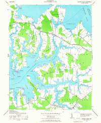 Download a high-resolution, GPS-compatible USGS topo map for Church Creek, MD (1966 edition)