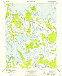 Download a high-resolution, GPS-compatible USGS topo map for Church Creek, MD (1958 edition)