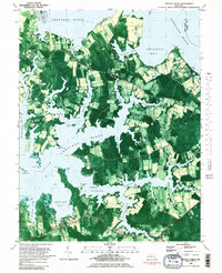 Download a high-resolution, GPS-compatible USGS topo map for Church Creek, MD (1982 edition)