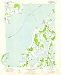 Download a high-resolution, GPS-compatible USGS topo map for Claiborne, MD (1961 edition)