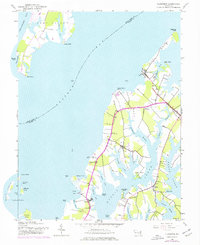 Download a high-resolution, GPS-compatible USGS topo map for Claiborne, MD (1976 edition)