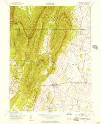 Download a high-resolution, GPS-compatible USGS topo map for Clear Spring, MD (1956 edition)