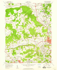 Download a high-resolution, GPS-compatible USGS topo map for Cockeysville, MD (1958 edition)
