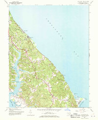 Download a high-resolution, GPS-compatible USGS topo map for Cove Point, MD (1970 edition)