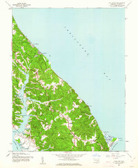 Download a high-resolution, GPS-compatible USGS topo map for Cove Point, MD (1962 edition)