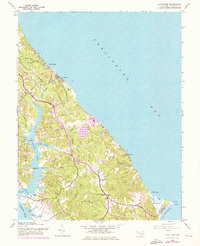 Download a high-resolution, GPS-compatible USGS topo map for Cove Point, MD (1976 edition)