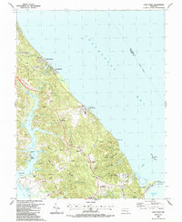 Download a high-resolution, GPS-compatible USGS topo map for Cove Point, MD (1987 edition)