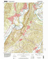 Download a high-resolution, GPS-compatible USGS topo map for Cresaptown, MD (2001 edition)