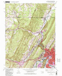 Download a high-resolution, GPS-compatible USGS topo map for Cumberland, MD (1999 edition)