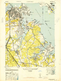 Download a high-resolution, GPS-compatible USGS topo map for Curtis Bay, MD (1946 edition)