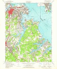 Download a high-resolution, GPS-compatible USGS topo map for Curtis Bay, MD (1966 edition)