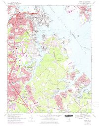 Download a high-resolution, GPS-compatible USGS topo map for Curtis Bay, MD (1975 edition)