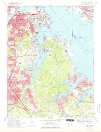 Download a high-resolution, GPS-compatible USGS topo map for Curtis Bay, MD (1971 edition)