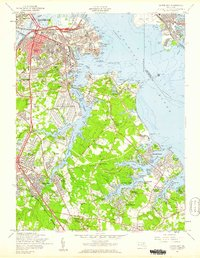 Download a high-resolution, GPS-compatible USGS topo map for Curtis Bay, MD (1960 edition)