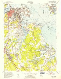Download a high-resolution, GPS-compatible USGS topo map for Curtis Bay, MD (1954 edition)
