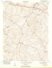 Download a high-resolution, GPS-compatible USGS topo map for Damascus, MD (1950 edition)