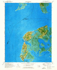 Download a high-resolution, GPS-compatible USGS topo map for Deal Island, MD (1975 edition)