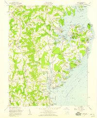 Download a high-resolution, GPS-compatible USGS topo map for Deale, MD (1959 edition)