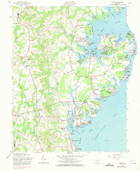 Download a high-resolution, GPS-compatible USGS topo map for Deale, MD (1971 edition)
