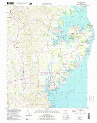 Download a high-resolution, GPS-compatible USGS topo map for Deale, MD (1999 edition)
