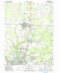 Download a high-resolution, GPS-compatible USGS topo map for Delmar, MD (1992 edition)