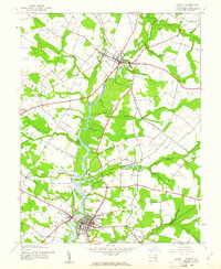 Download a high-resolution, GPS-compatible USGS topo map for Denton, MD (1961 edition)