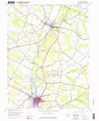 Download a high-resolution, GPS-compatible USGS topo map for Denton, MD (1976 edition)