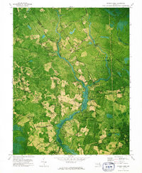 Download a high-resolution, GPS-compatible USGS topo map for Dividing Creek, MD (1975 edition)