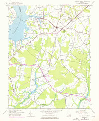 Download a high-resolution, GPS-compatible USGS topo map for East New Market, MD (1976 edition)