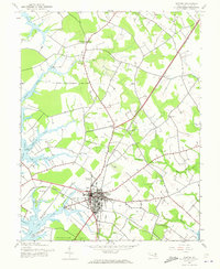 Download a high-resolution, GPS-compatible USGS topo map for Easton, MD (1973 edition)