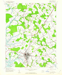 Download a high-resolution, GPS-compatible USGS topo map for Easton, MD (1961 edition)