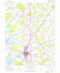 Download a high-resolution, GPS-compatible USGS topo map for Easton, MD (1976 edition)