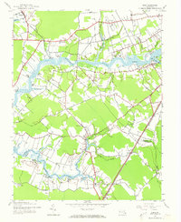 Download a high-resolution, GPS-compatible USGS topo map for Eden, MD (1973 edition)