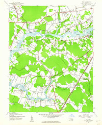 Download a high-resolution, GPS-compatible USGS topo map for Eden, MD (1962 edition)