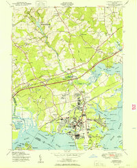 Download a high-resolution, GPS-compatible USGS topo map for Edgewood, MD (1951 edition)