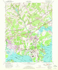 Download a high-resolution, GPS-compatible USGS topo map for Edgewood, MD (1972 edition)