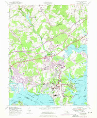 Download a high-resolution, GPS-compatible USGS topo map for Edgewood, MD (1975 edition)