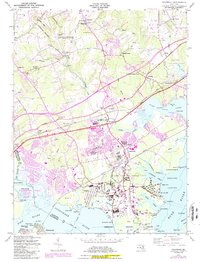 Download a high-resolution, GPS-compatible USGS topo map for Edgewood, MD (1986 edition)