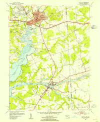 Download a high-resolution, GPS-compatible USGS topo map for Elkton, MD (1954 edition)