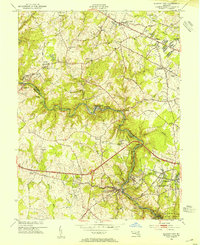 Download a high-resolution, GPS-compatible USGS topo map for Ellicott City, MD (1954 edition)