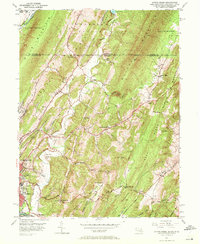 Download a high-resolution, GPS-compatible USGS topo map for Evitts Creek, MD (1972 edition)